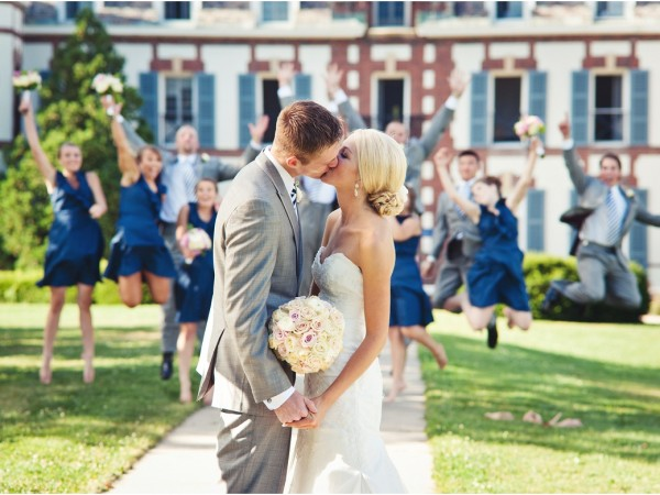 Michael & Erin's Wedding in Vermont with a relaxed back yard reception at home.