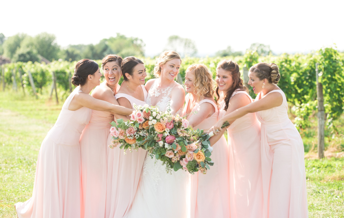 Rochester Winery Bridesmaids