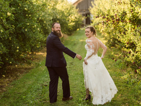 Joy and Dutch's NY Apple Orchard Farm wedding on the Hickory Grove Farm in Sodus, NY